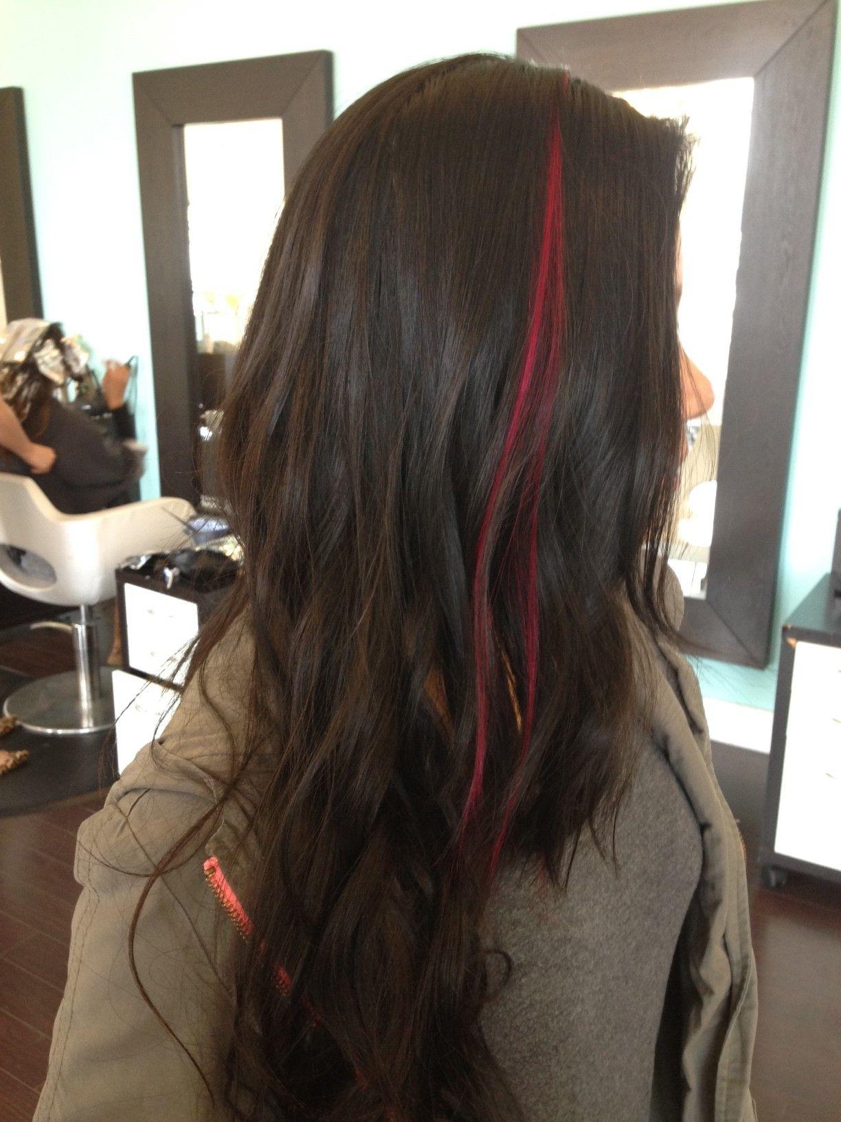 Hot Pink Streak By Sop Originals Hair Extensions Streak For