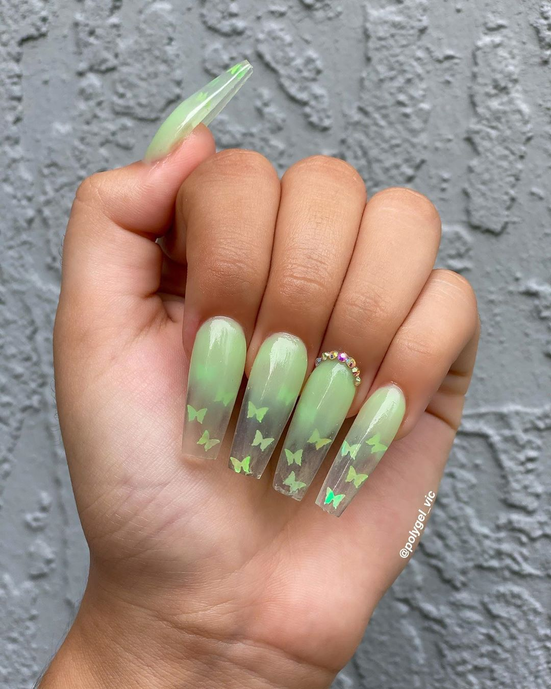 Nails By Vic On Instagram Just Did These Nails On A Live Stream On Youtube Thank You To Everyone Who Joi In 2020 Best Acrylic Nails Polygel Nails Cute Acrylic Nails