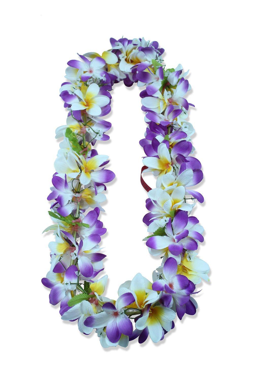 Hawaii luau party artificial fabric plumeria flower lei