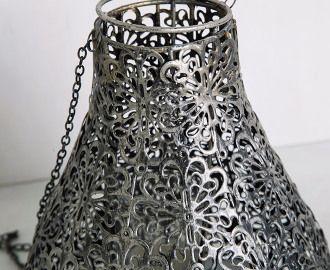Industrial 21cm Hanging Lamp Lantern - Silver2