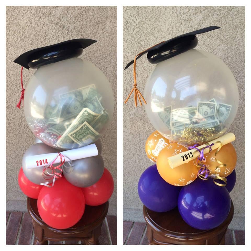 Graduation money balloon centerpiece