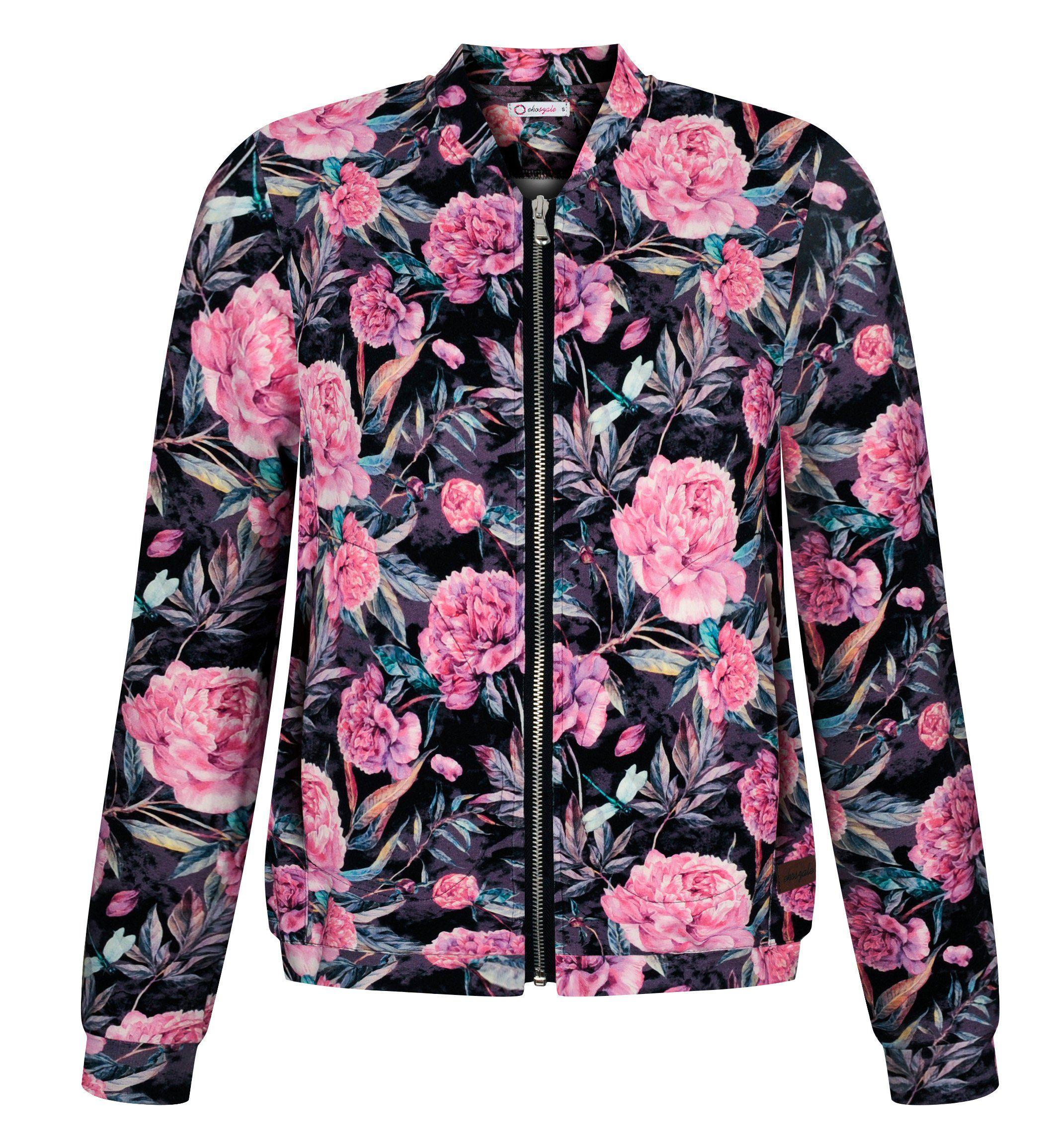 Black Women Bomber Boho Jacket Classic Women S Bomber Floral Jacket Floral Blazer Women S Bomber Printed Jacket Bomber Floral Print Boho Jacket Womens Bomber Floral Jacket
