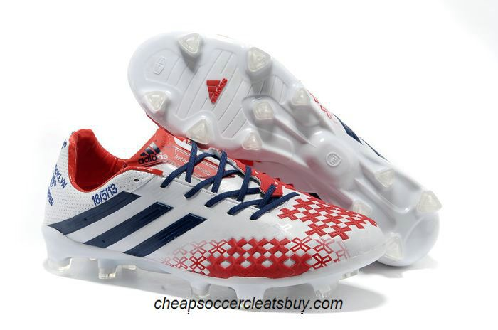 Adidas Predator Lethal Zones Soccer Cleats 2013 For David Beckhams  Retirement Game 2013 White Blue Red 71dba4e48b37