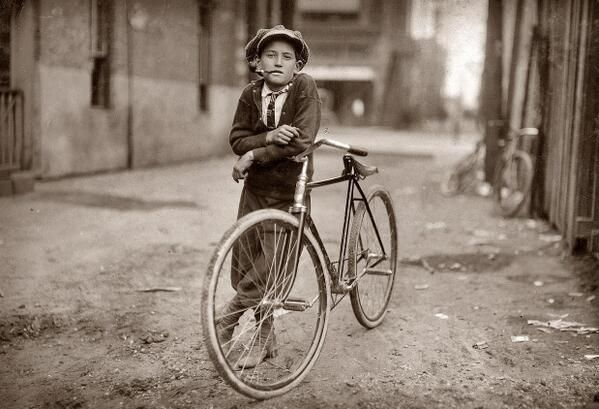 Messenger boy working for the Mackay Telegraph Company, Waco, Texas, 1908 - by Lewis Hine