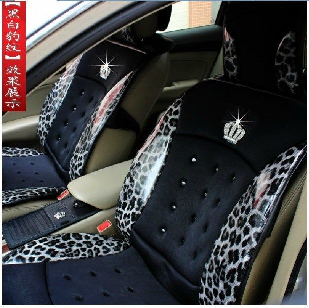 JP DAD Crown Luxury Fashion Personality Leopard Print PU Leather Car Seat Cover Summer New Cool Pad Four Seasons General In Covers From Automobiles