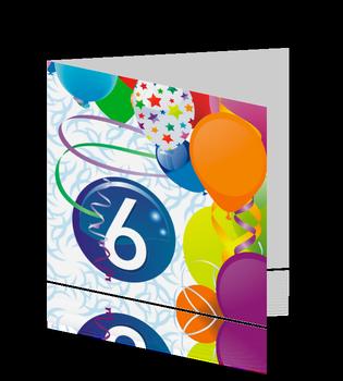 Verjaardagskaart - Uitnodiging Kinderfeestje, Ontwerp OTTI, verkrijgbaar bij Postkaarten.nl