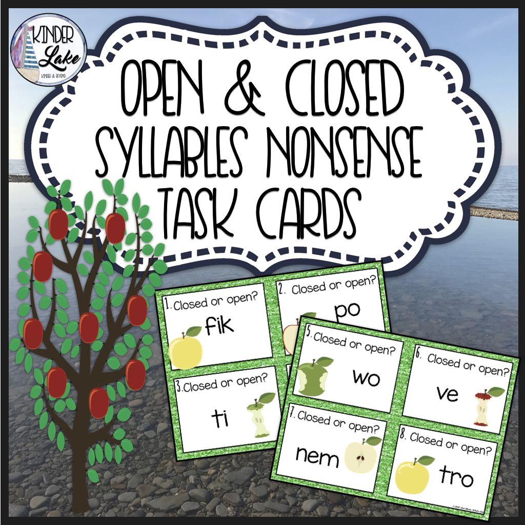 Open Amp Closed Syllable Activity
