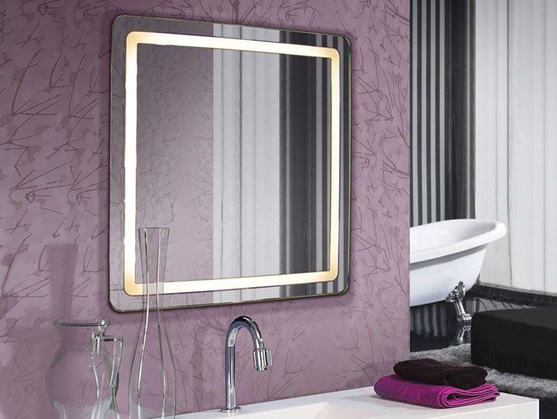 Espejo de led espejos iluminados espejos con luz espejos - Luz para banos ...