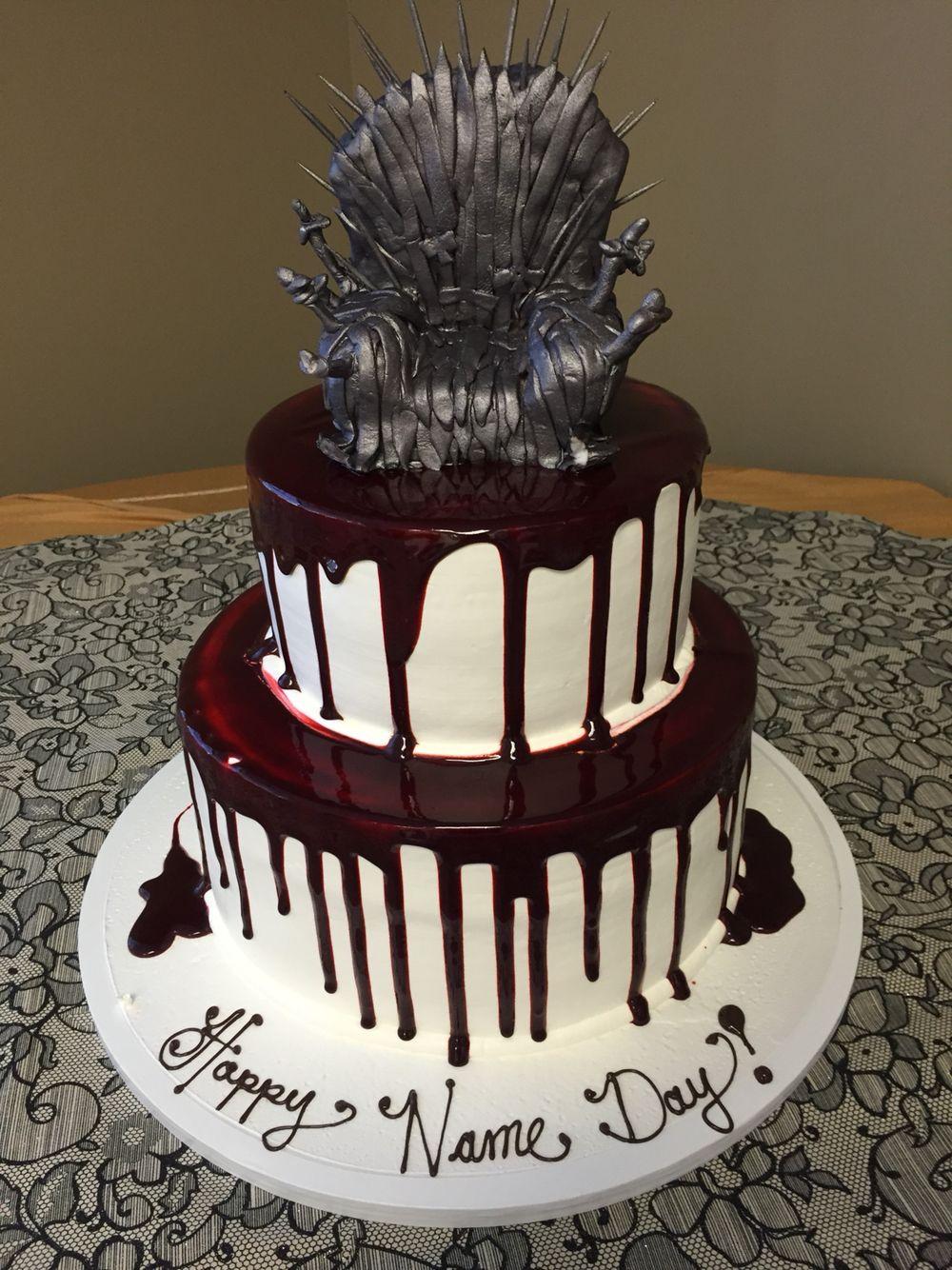 Cake from Portos in Glendale Homemade Cake Topper Game of