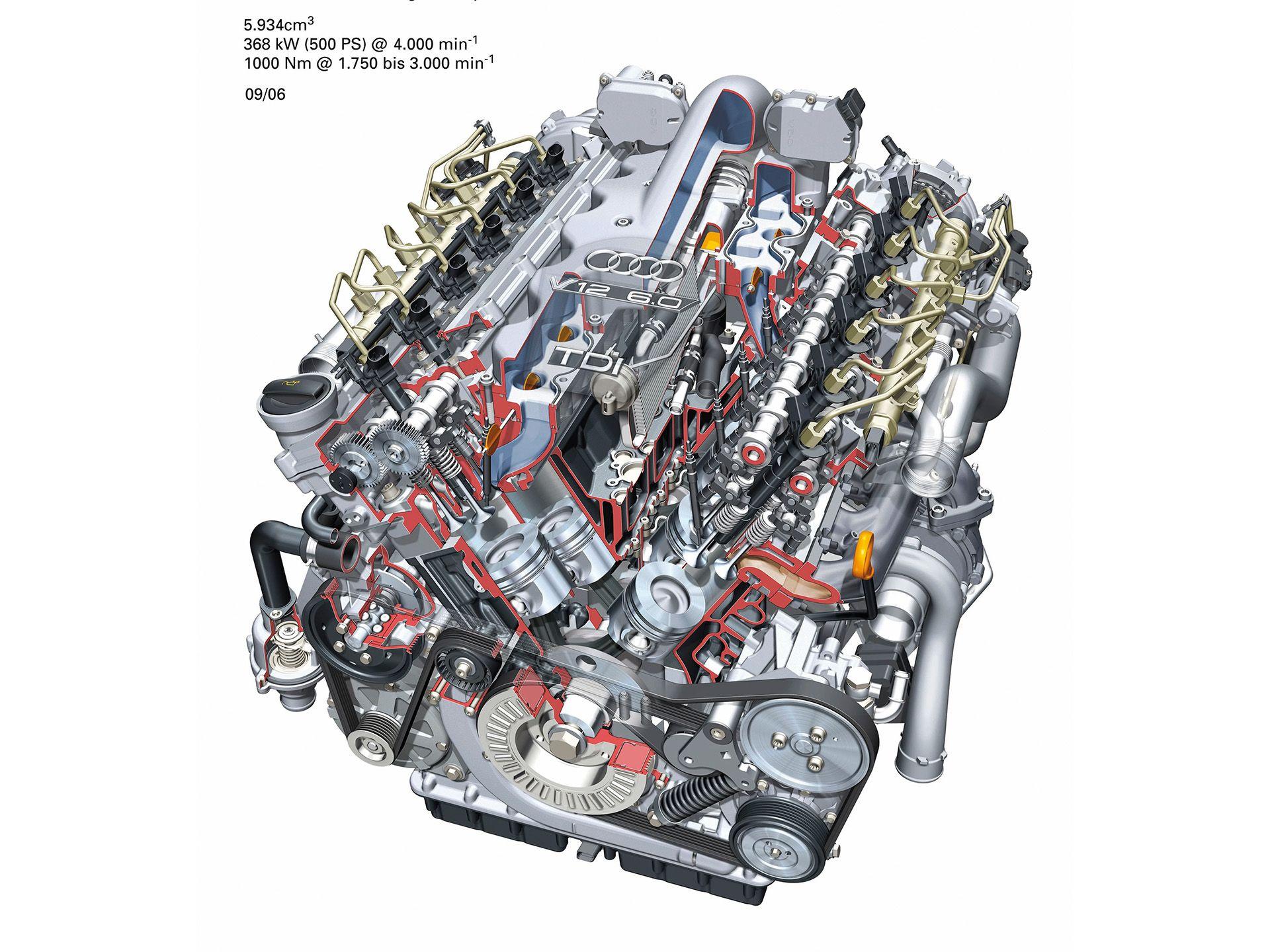 Inner Workings Of The Insane 6 0 V12 Tdi Really Cool Audi