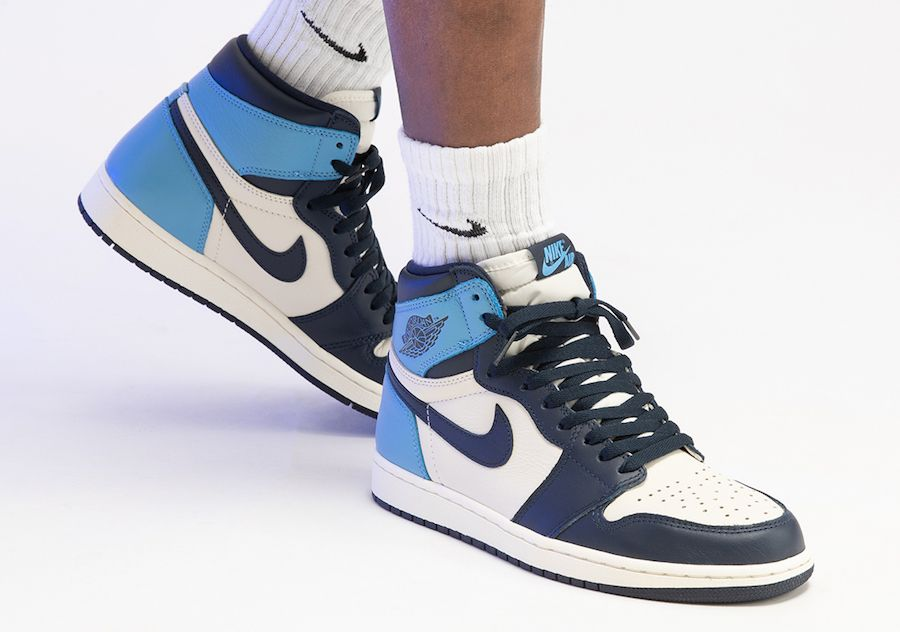 Air Jordan 1 Retro High Og Obsidian University Blue Nike Jordans The Air Jordan 1 High Obsidian University Blue Is A 2019 Release Of The Legendary Silhouette In A Colorway Inspired B In 2020 Air Jordans Retro Air Jordans Fresh Shoes