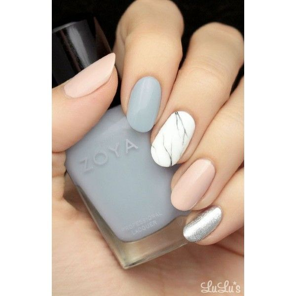 Mani Monday Pastel Marble Nail Tutorial ❤ liked on Polyvore ...
