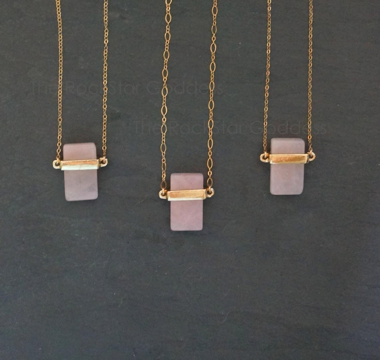 Rose Quartz Jewelry / Open Heart Chakra / Rose Quartz Necklace / Rose Quartz Pendant / Crystal Necklace