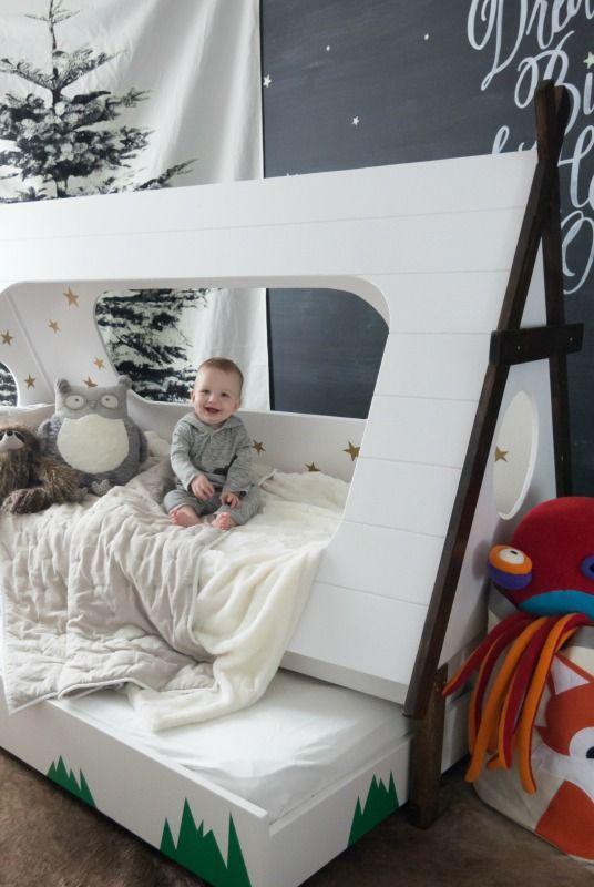 Asleep Under The Stars Woodland Kids Room Toddler Boys Room