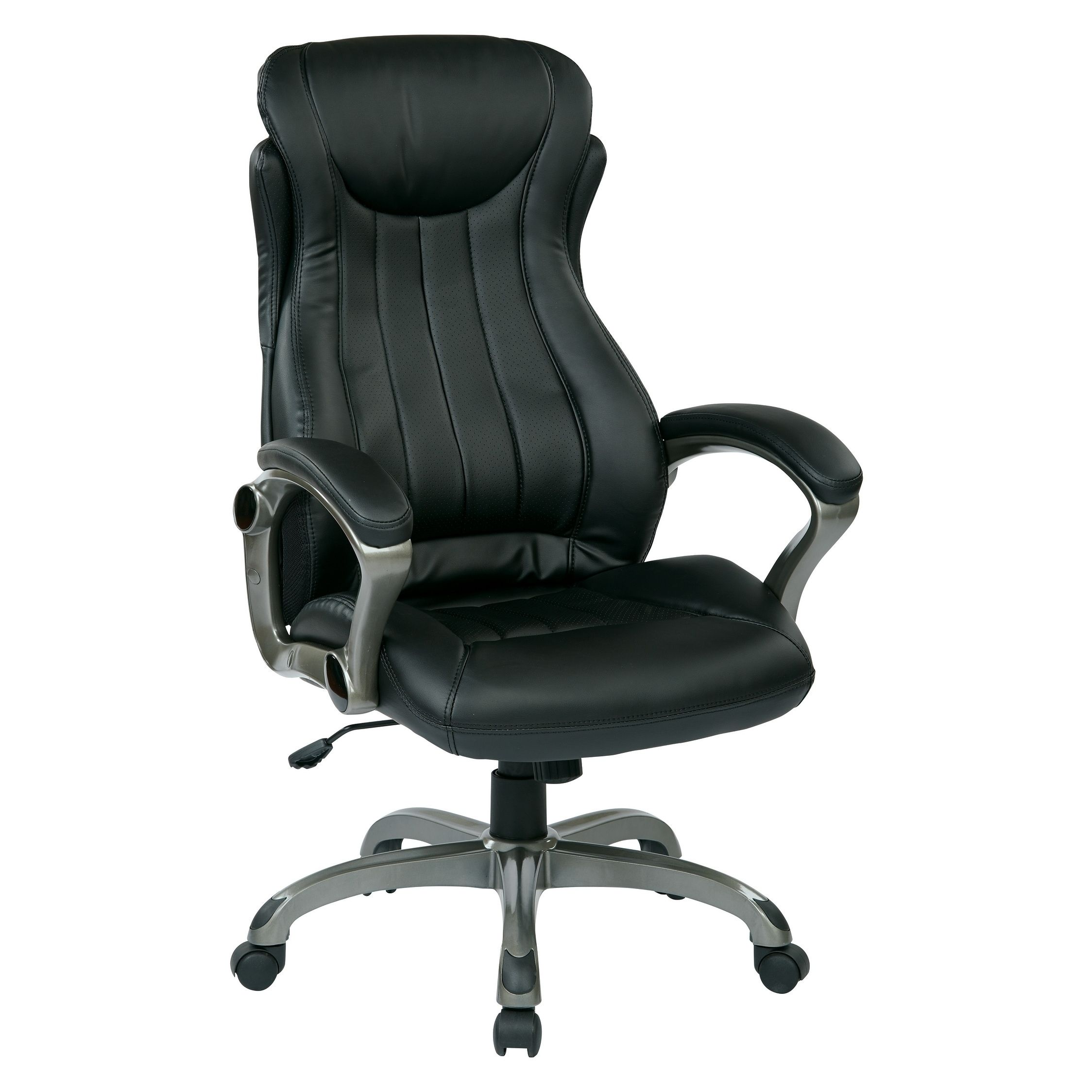 Work Smart Bonded Leather Executive Manager S Chair Black
