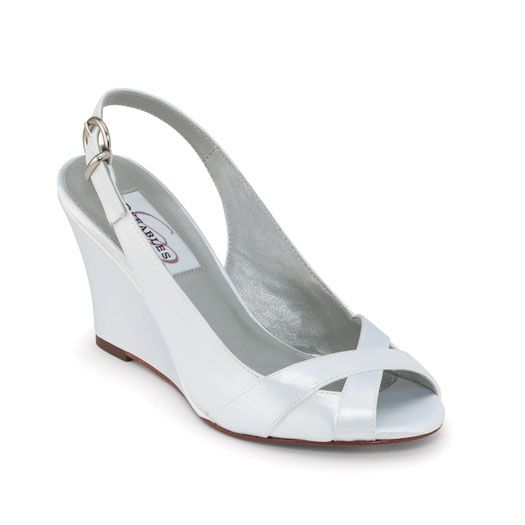 A Playful Wedge Sandal For A More Casual Wedding Wedge Wedding Shoes Dyeable Wedding Shoes Wedding Shoes Heels