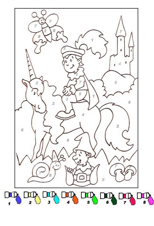 coloriage Coloriage magique facile 15 | École | Pinterest ...