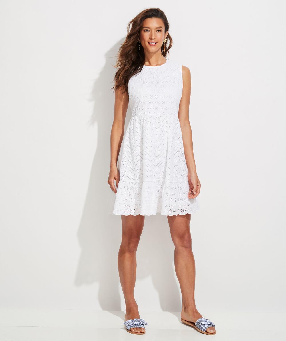 Shop Allamanda Eyelet Sleeveless Dress At Vineyard Vines Sleeveless Dress Shopping Womens Dresses Dresses [ 1190 x 1000 Pixel ]