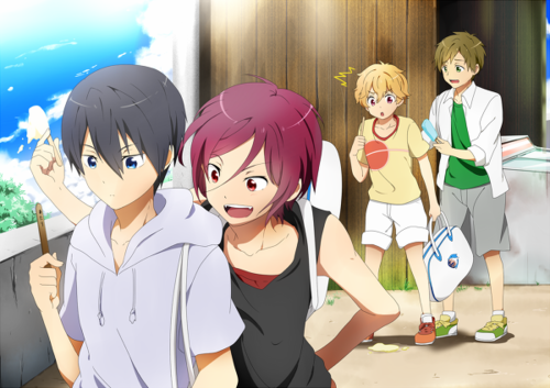Free! Haru, Rin, Nagisa, & Makoto as kids (With images