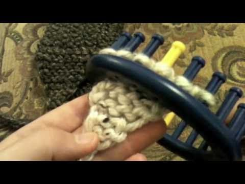 How To Loom Knit A Triangle For Shawl Or Accent Youtube Loom