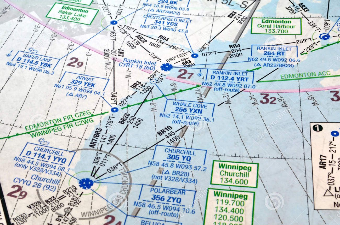 Air Navigation Chart Alberta Canada