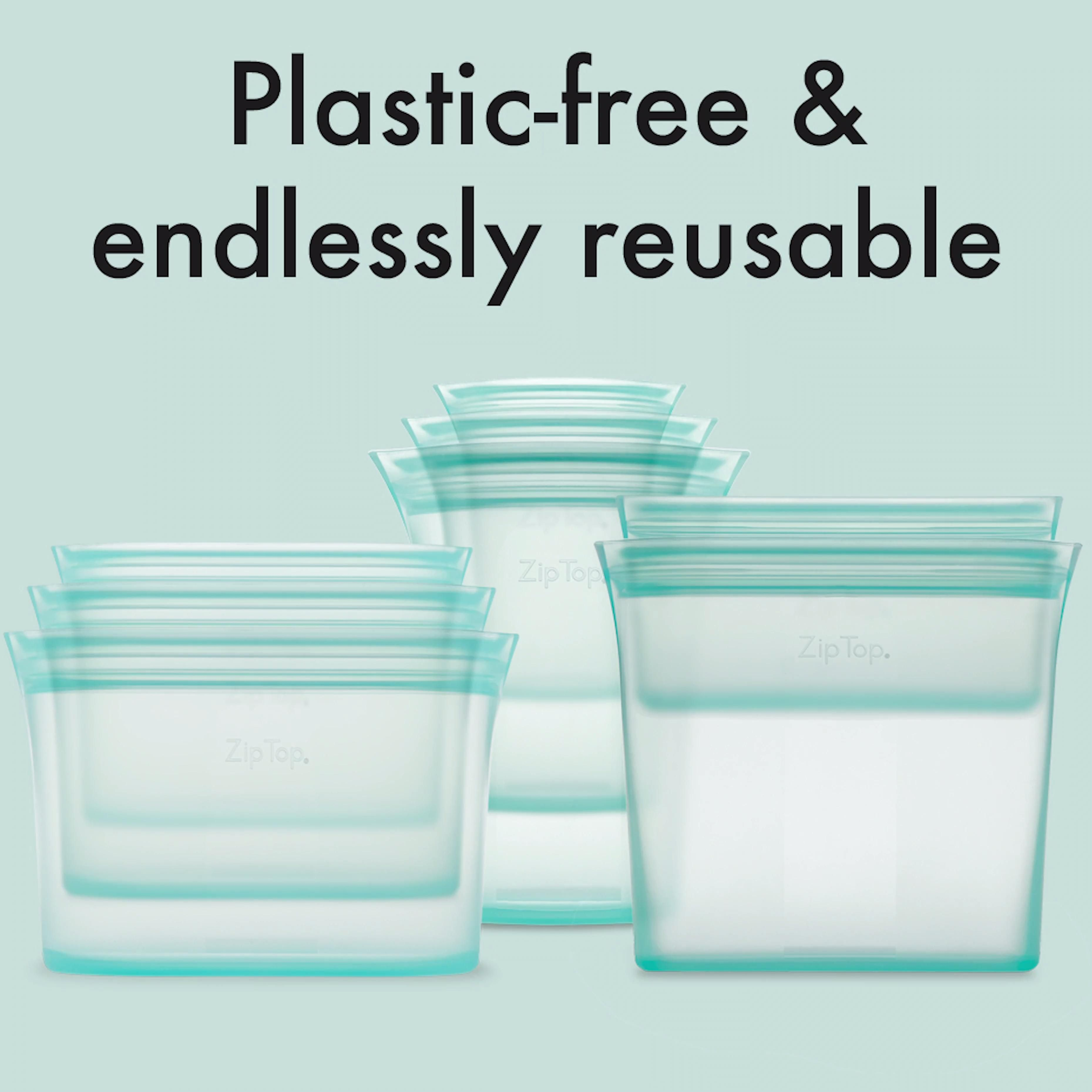 Endlessly reusable, plastic-free 100% silicone containers. They're freezer, microwave and dishwasher safe. And made in the USA!  #ziptop #reusable #silicone #madeintheusa #usa #freezerorganization #springcleaning #mothersdaygift #nolids #stasherbag #ziptopcontainers