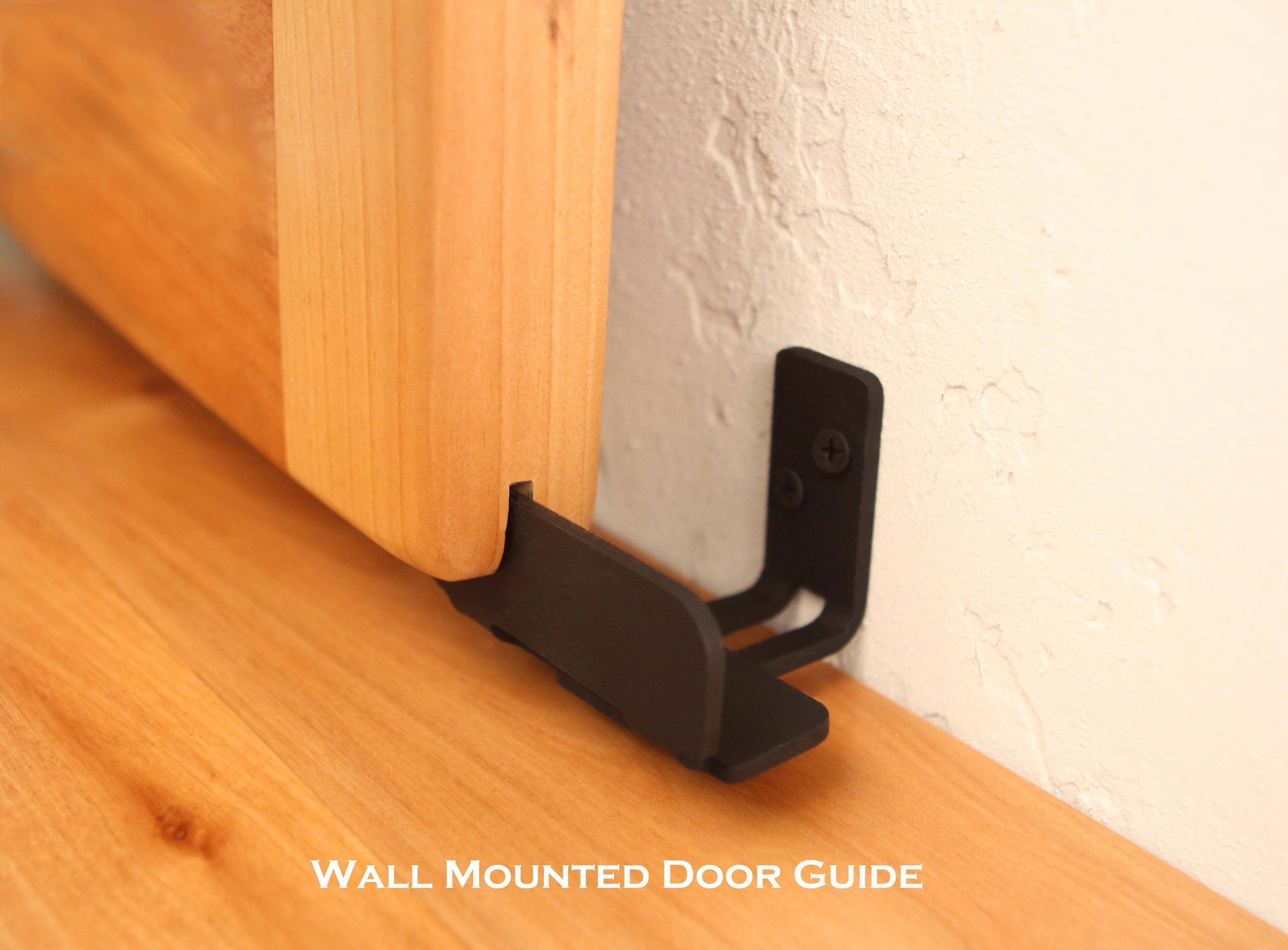 Exterior Sliding Door Hardware Barn Door Bottom Track White