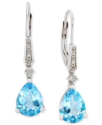 030ee1c4119d2 Gemstone (3 ct. t.w.) and Diamond Accent Birthstone Drop Earrings in ...