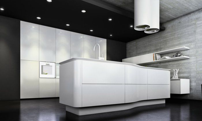 la cuisine laqu e une survivance ou un hit moderne plafond noir cuisine blanc laqu et. Black Bedroom Furniture Sets. Home Design Ideas