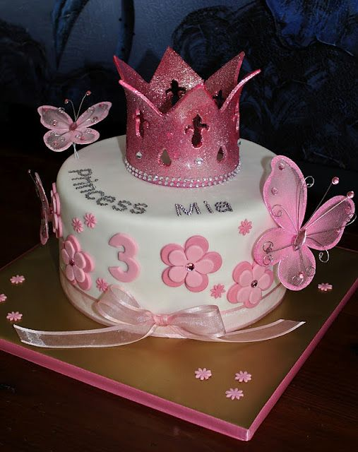 Girly Fondant Birthday Cakes