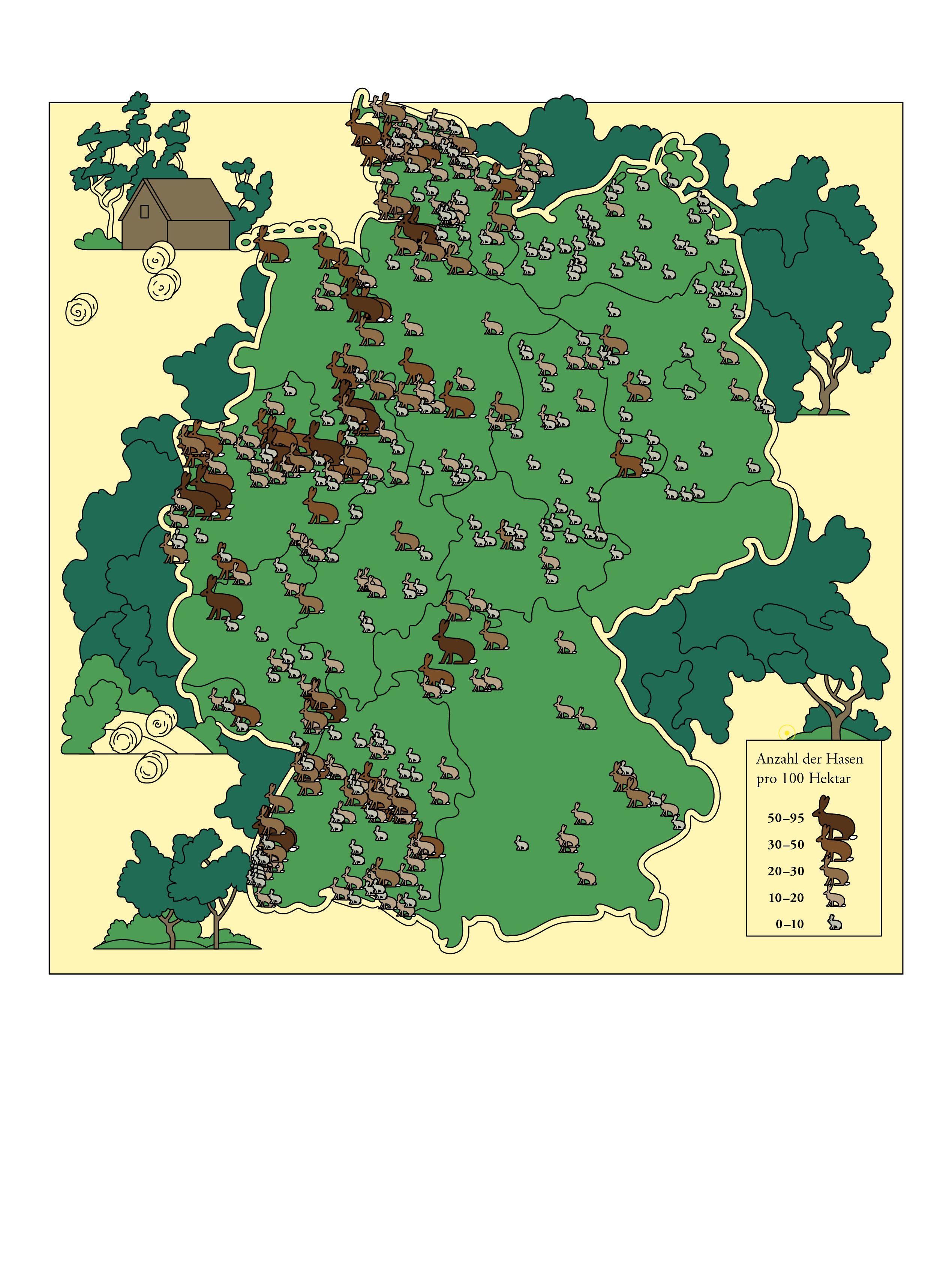 17 Deutschlandkarte Feldhasen Map World World Map