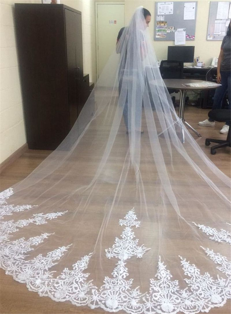 7b03cc310c Beautiful long wedding veil