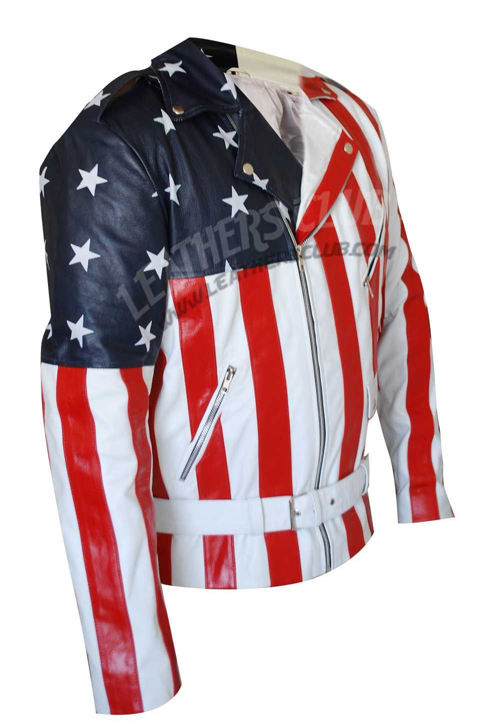 America Flag BikerJacket