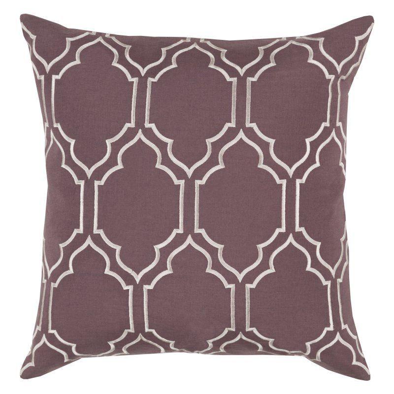 Surya Skyline VI Decorative Throw Pillow Down Eggplant - BA046-1818D, SYR5874-19