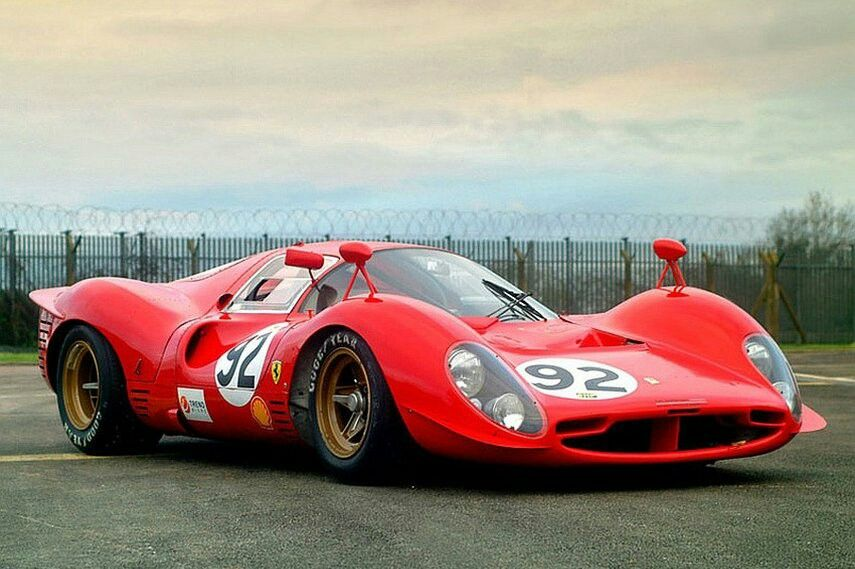 Awesome Ferrari P4 Race Cars Racing Sport Cars
