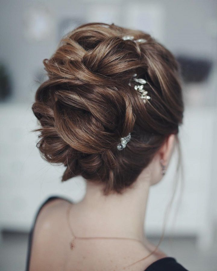 Wedding updo hairstyle #elegantbride #wedding #bridalhair #hairstyles #updos