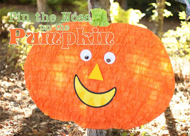 Amanda's Parties TO GO: Tutorial: Pin the Nose on the Pumpkin