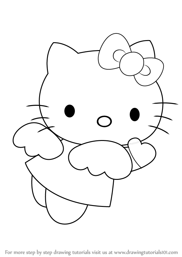 how to draw hello kitty angel drawingtutorials101 com drawing