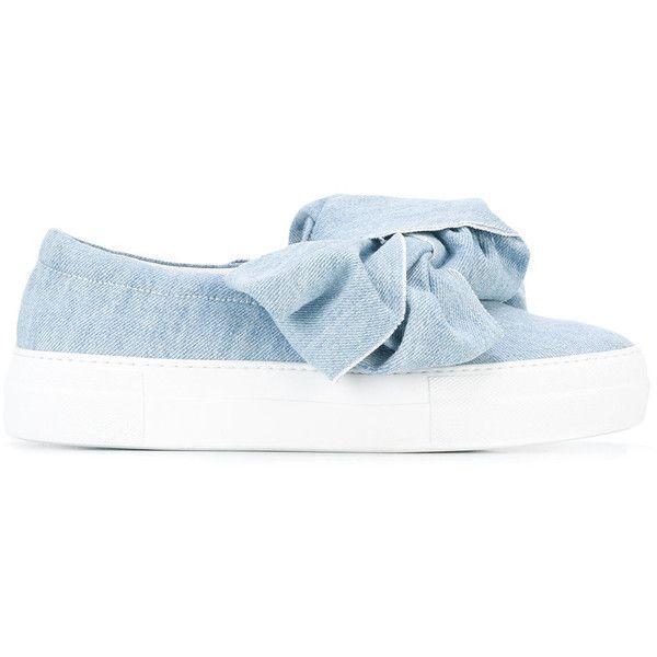 Joshua Sanders Navy Denim Binx Stars Slip-On Sneakers