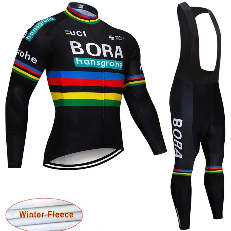 32919044003 Aliexpress New BORA UCI Cycling Jersey Winter thermal fleece Bike  clothes bib pants bicycle clothing wear set ropa maillot ciclismo 16D gel  on ... 0aa7d12f7
