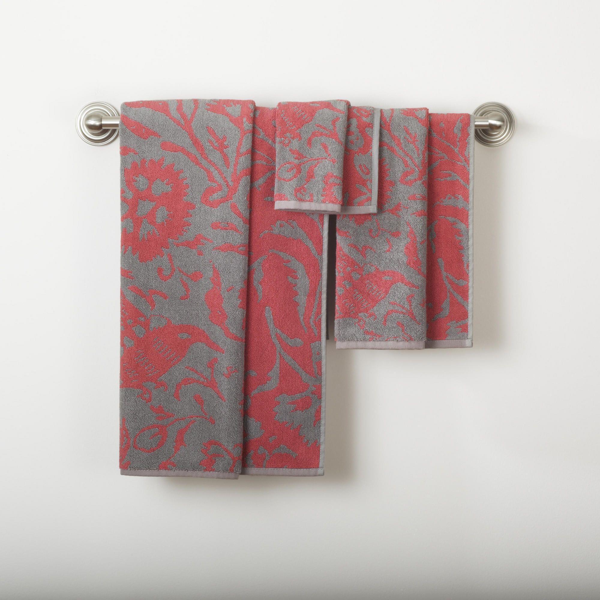 Parnavi Grey Coral Bath Towel CollectionBath TowelsBathroomBed - Coral bath towels for small bathroom ideas