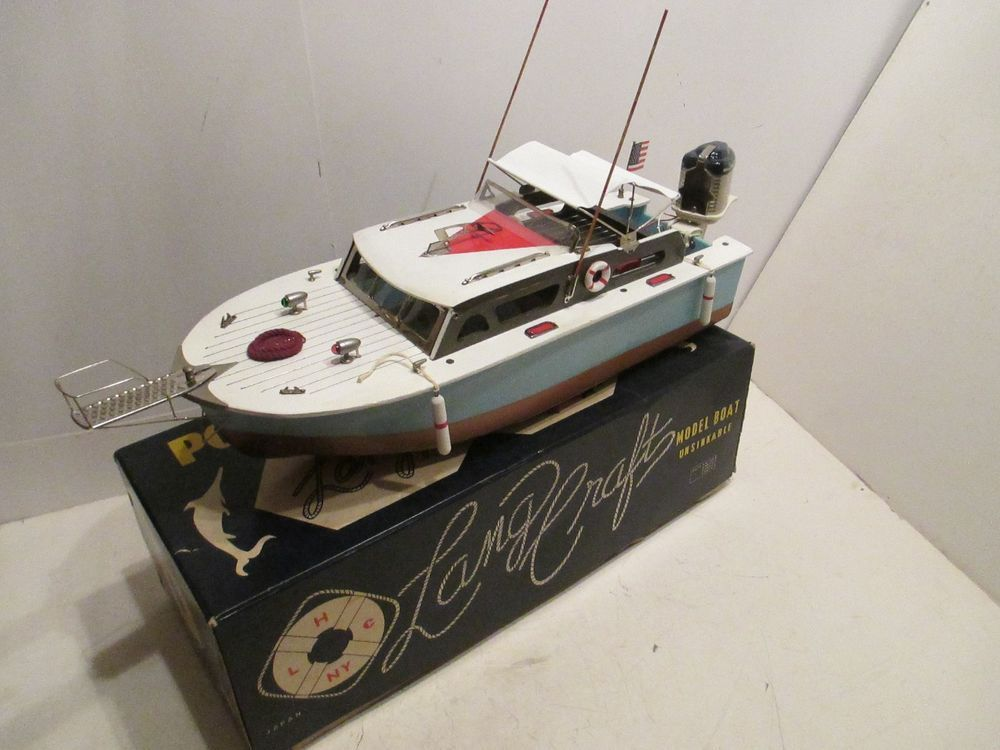 Sport Fisherman With Mercury Outboard Motor Mint In Box