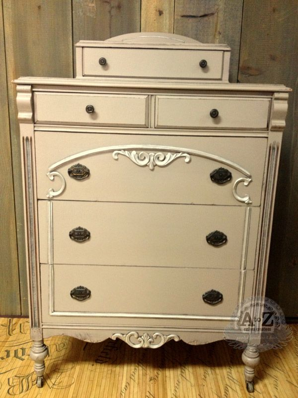 Painted Antique Chest Using Webster S Chalk Paint Powder Benjamin Moore Weimaraner And Accented With Royal Stencil Creme
