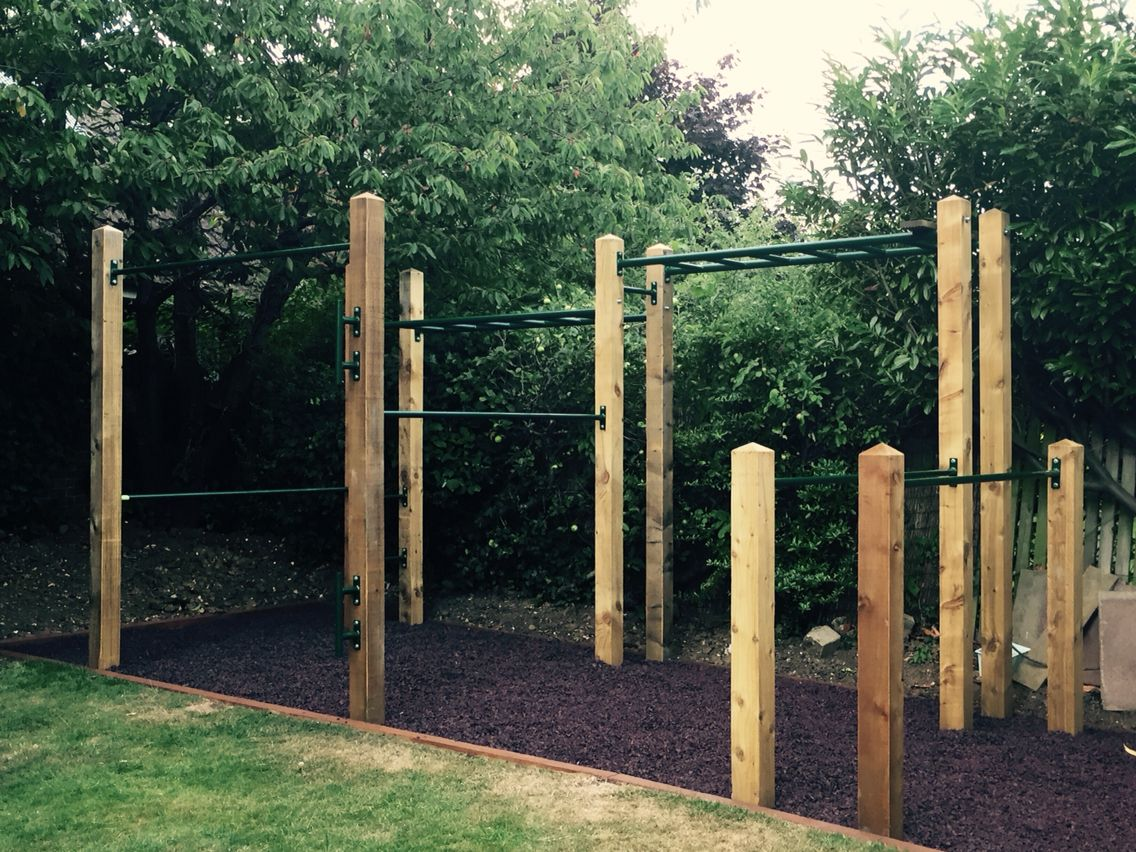 Pin by j a on h g pinterest gym outdoor gym and for Wooden jungle gym plans