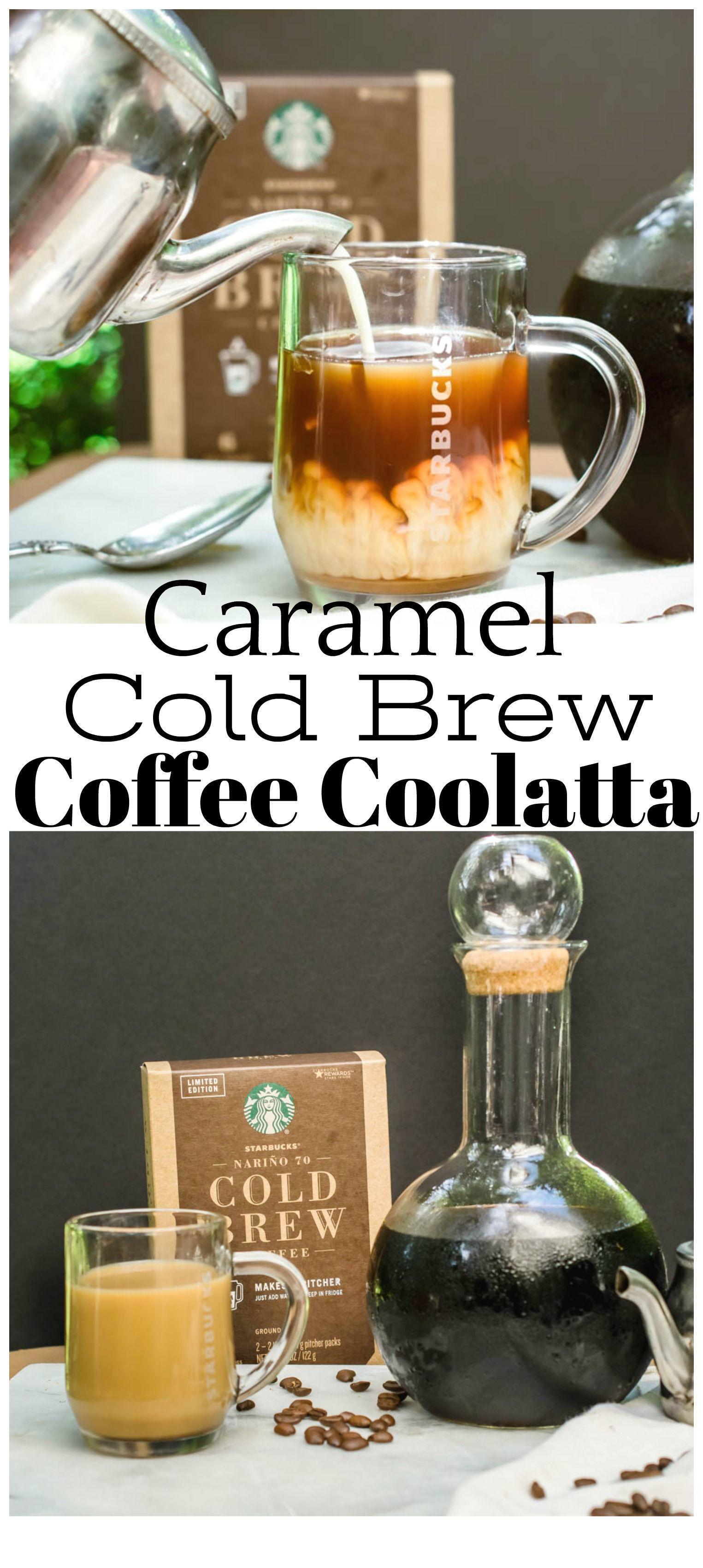 Homemade caramel cold brew coffee coolatta essentially