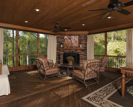 Pin By Atlanta Decking Fence On Unique Screened Back Porches House With Porch Porch Design Back Porch Designs
