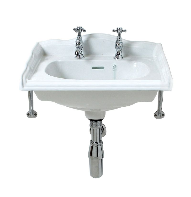Traditional English Square Basin - Click Image to Close