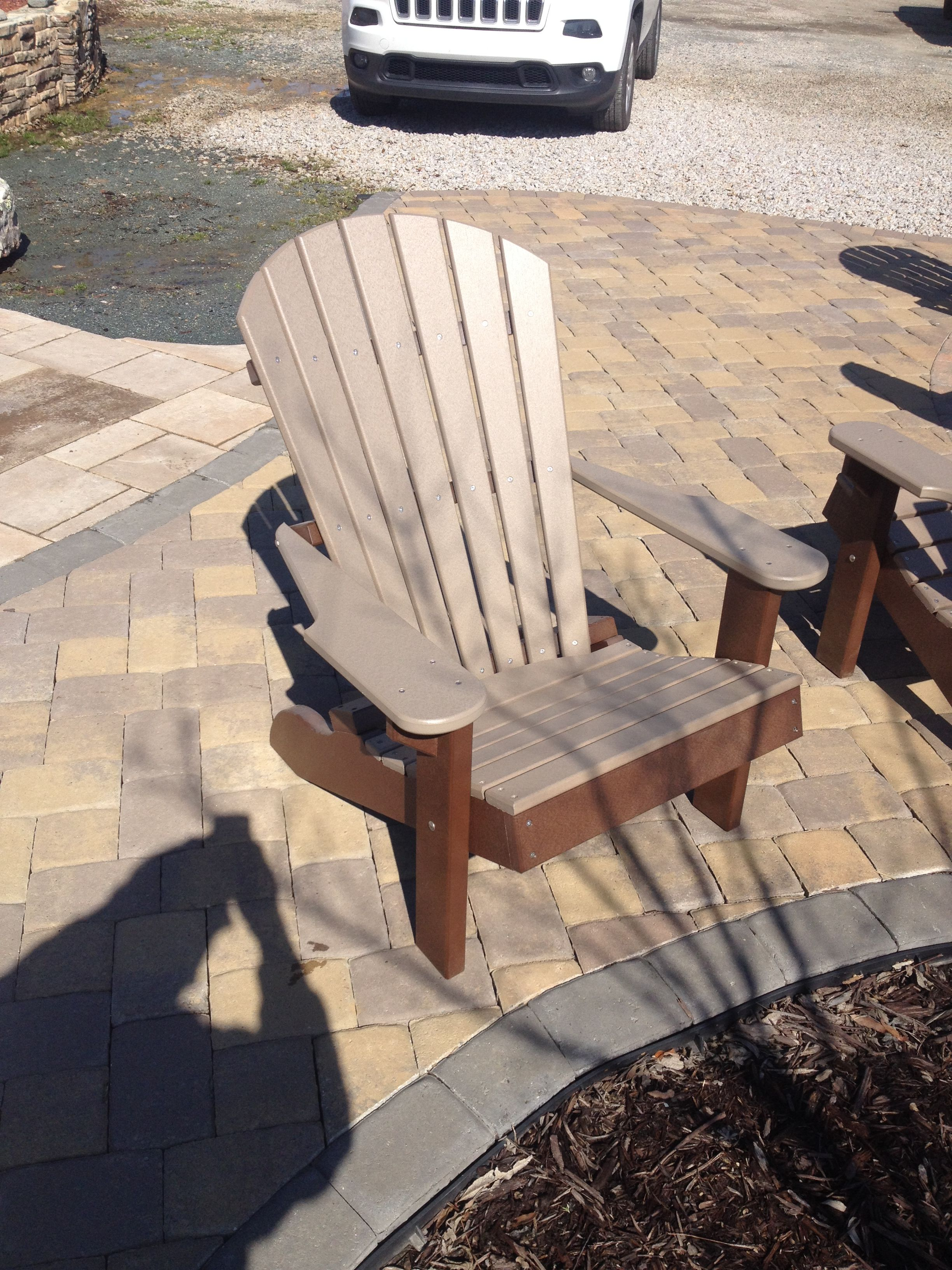 Adirondack chairs in stock at our Monroe store. Weathered