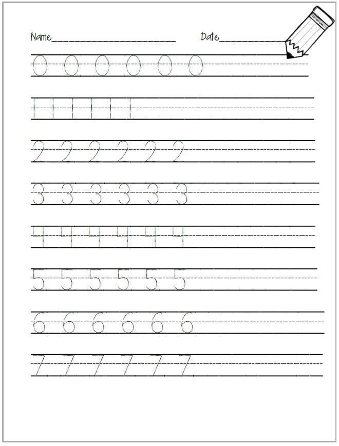 Number Tracing Worksheet | Voorskool/Preschool | Pinterest | Kind