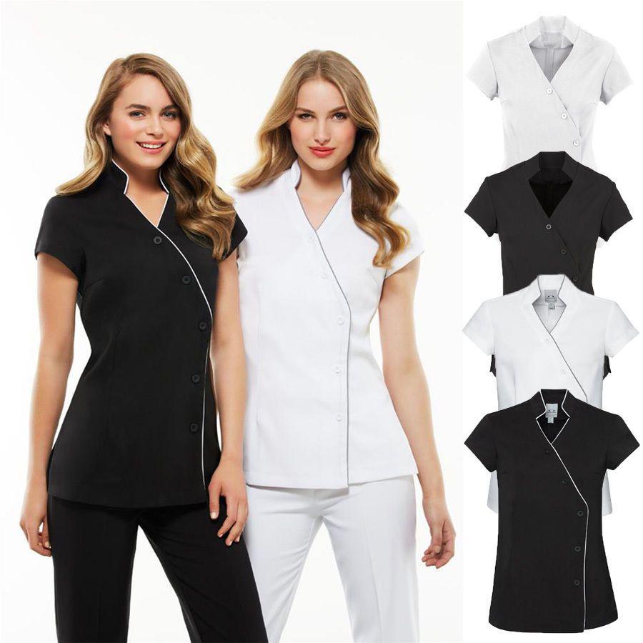 Ladies Zen Crossover Tunic Chemist Beauty Salon Medical Wear Wrap Brand New